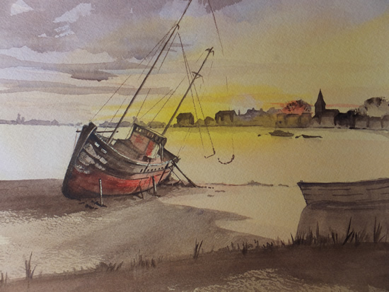 Bosham Creek - Britain Art Gallery - Painting by Woking Surrey Artist David Harmer