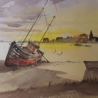Bosham Creek – Britain Art Gallery – Painting by Woking Surrey Artist David Harmer