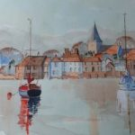 Bosham Harbour & Church 2 – Britain Art Gallery – Painting by Woking Surrey Artist David Harmer