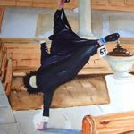 Cartwheeling Dean in Church – Art Gallery – Woking Surrey Artist David Harmer