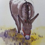 Contented Donkey – Animals and Plants Art Gallery – Painting by Woking Surrey Artist David Harmer
