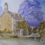 Cotswold Cottage – Britain Art Gallery – Painting by Woking Surrey Artist David Harmer