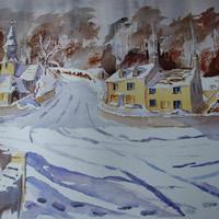 Cotswold Winter Eastleach – Gloucestershire Art Gallery