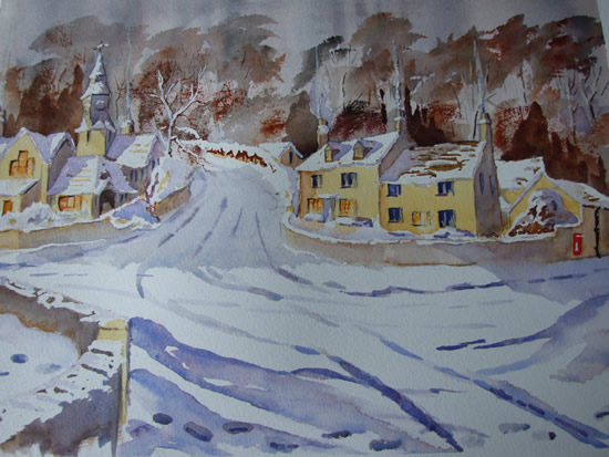 Cotswold Winter Eastleach - Gloucestershire Art Gallery