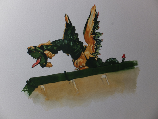 Dragon on the Roof of Kew Gardens Pagoda