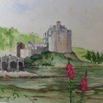 Eilean Donan Castle Loch Alsh Scotland – British Art Gallery – Painting by Woking Surrey Artist David Harmer