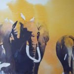 Elephants – The Matriarch – Watercolour Art by Woking Surrey Artist David Harmer