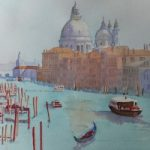 Grand Canal, Venice – Europe Art Gallery – Painting by Woking Surrey Artist David Harmer