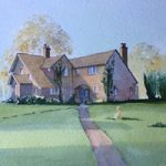 House Portrait 9 – Commissioned Painting by Woking Surrey Artist David Harmer
