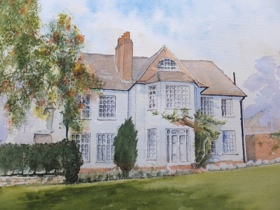 House Portrait Commission 1 - General Art Gallery - Painting by Woking Surrey Artist David Harmer