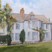 House Portrait Commission 1 – General Art Gallery – Painting by Woking Surrey Artist David Harmer