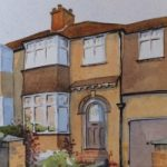 House Portrait Commission 3 – General Art Gallery – Painting by Woking Surrey Artist David Harmer