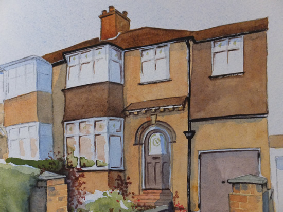 House Portrait Commission 3 - General Art Gallery - Painting by Woking Surrey Artist David Harmer