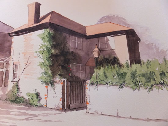 House Portrait No 6 - General Art Gallery - Painting by Woking Surrey Artist David Harmer