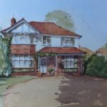 House Portrait No.7 – General Art Gallery – Painting by Woking Surrey Artist David Harmer