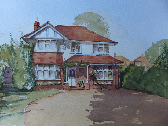 House Portrait No.7 - General Art Gallery - Painting by Woking Surrey Artist David Harmer