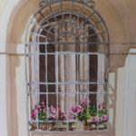 Italian Window 3 – Europe Art Gallery – Painting by Woking Surrey Artist David Harmer