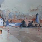 Langstone Mill, near Hayling Island – Britain Art Gallery – Painting by Woking Surrey Artist David Harmer