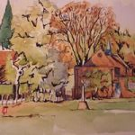 Lord Pirbrights Hall – Surrey Art Gallery – Painting by Woking Surrey Artist David Harmer