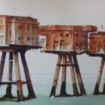 Maunsell Sea Forts in the Thames Estuary – Britain Art Gallery – Painting by Woking Surrey Artist David Harmer