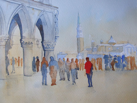 Memory of Venice - Italy Art Gallery of Woking Surrey Artist David Harmer