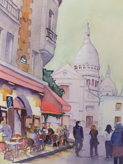 Montmartre - Paris Art Gallery of Woking Surrey Artist David Harmer