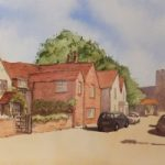 Old Woking – Surrey Scenes Art Gallery – Painting by Woking Surrey Artist David Harmer