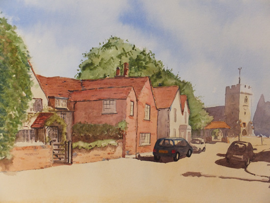 Old Woking - Surrey Scenes Art Gallery - Painting by Woking Surrey Artist David Harmer