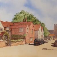 Old Woking – Surrey Scenes Art Gallery – Painting by Woking Surrey Artist David Harmer