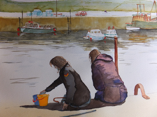 Padstow Harbour - Cornwall Art Gallery - Painting by Woking Surrey Artist David Harmer