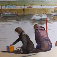 Padstow Harbour – Cornwall Art Gallery – Painting by Woking Surrey Artist David Harmer