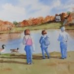 Painshill Park, Cobham – Surrey Scenes Art Gallery – Painting by Woking Surrey Artist David Harmer