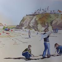 Port Isaac Beach – Cornwall Art Gallery – Painting by Woking Surrey Artist David Harmer
