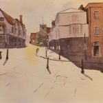 Quarry Street, Guildford – Surrey Art Gallery – Painting by Woking Surrey Artist David Harmer