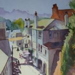 Reigate From The Tunnel – Watercolour Painting – Art Gallery of Woking Surrey Artist David Harmer