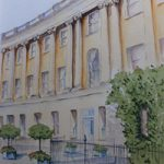 Royal Crescent Hotel, Bath – Painting by Woking Surrey Artist David Harmer