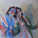 Royal Wedding Celebrations – Hyde Park – Watercolour Art by Woking Surrey Artist David Harmer