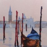 San Giorgio Maggiore, Venice (2) – Europe Art Gallery – Painting by Woking Surrey Artist David Harmer