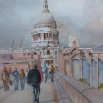 St. Paul's Cathedral – London Art Gallery – Painting by Woking Surrey Artist David Harmer