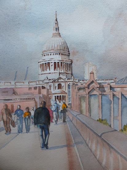 St Paul's Cathedral - London Art Gallery - Painting by Woking Surrey Artist David Harmer