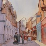 Swan Lane, Guildford – Surrey Scenes Art Gallery – Painting by Woking Surrey Artist David Harmer
