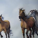Wild Horses – Watercolour Art by Woking Surrey Artist David Harmer
