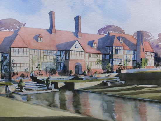 Wisley Gardens, Surrey - Britain Art Gallery - Painting by Woking Surrey Artist David Harmer