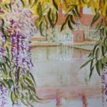 Wisteria in Wisley – Surrey Scenes Art Gallery – Painting by Woking Surrey Artist David Harmer