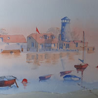 Langstone Mill Hampshire – Watercolour Painting