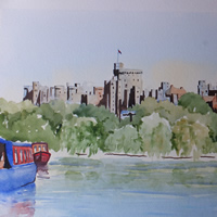 Windsor Castle Watercolour Painting