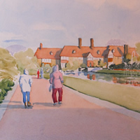 Wisley Gardens Stroll – Watercolour Painting