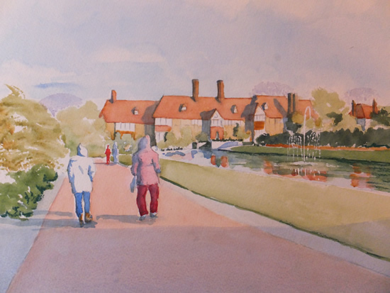 Wisley Gardens Stroll - Watercolour Painting