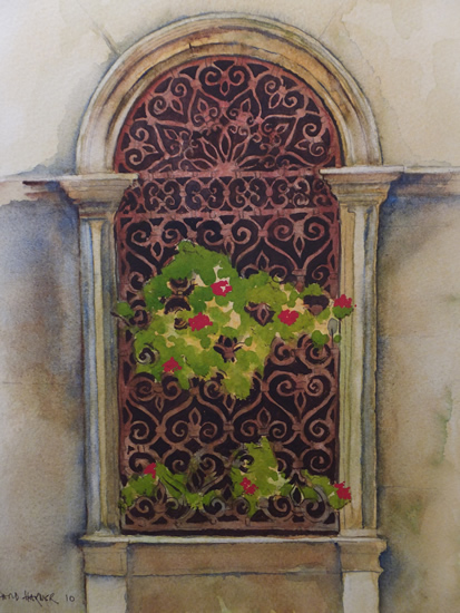 Ancient Window - Europe Art Gallery - Painting For Sale
