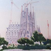 Church of The Sacred Family Barcelona – Europe Gallery – Pirbright Art Club Member David Harmer